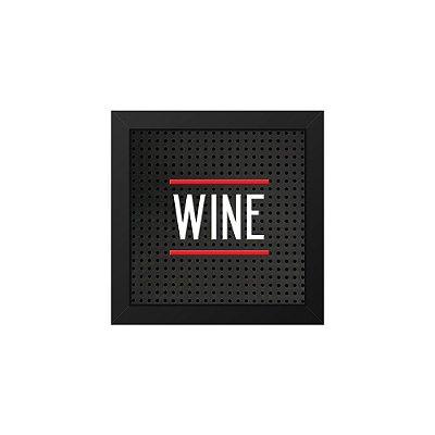 Placa de Letras Plugg Wine