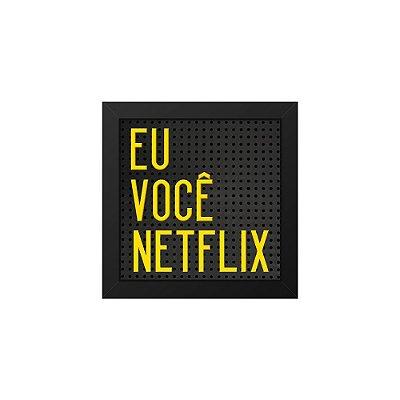 Placa de Letras Plugg Netflix