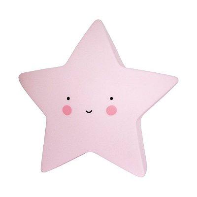 Mini Luminária Estrela Rosa