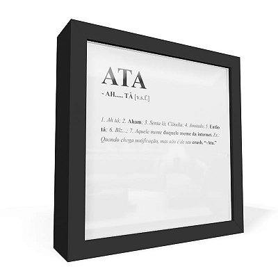 Quadro Caixa Frontal Dicionario ATA