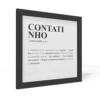 Quadro 20x20 Dicionario Contatinho