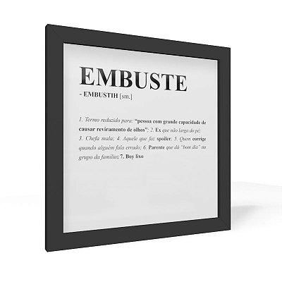 Quadro 20x20 Dicionario Embuste