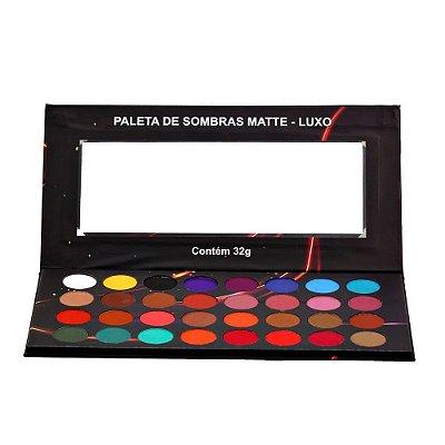 Paleta de Sombras Matte Colorida Luxo Ludurana