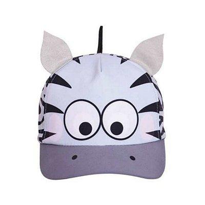 Boné bebê zebra