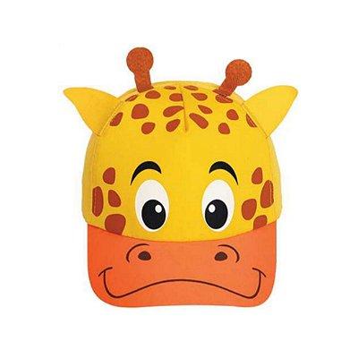 Boné bebê girafa
