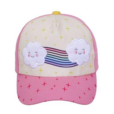 Boné baby arco-íris