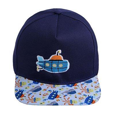 Boné infantil G submarino