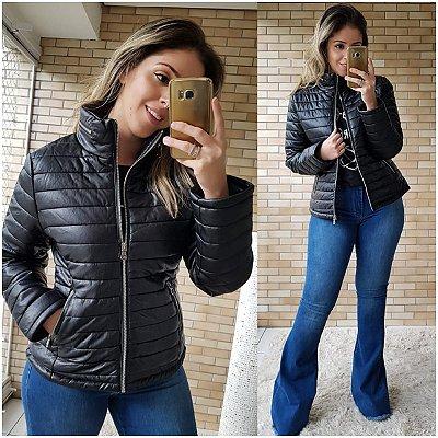 Jaqueta De Courino Costuras