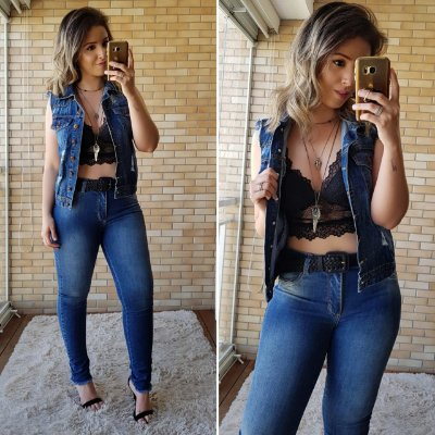Calça Jeans Skinny Desfiada com Lycra