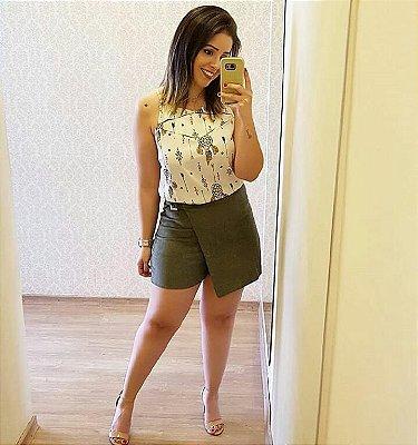 Shorts Saia Veludo
