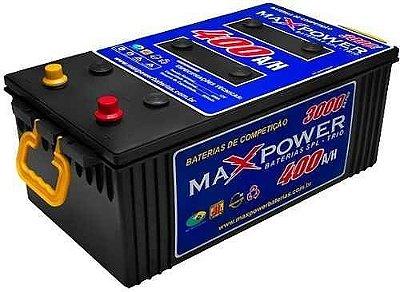 Bateria estacionária MAXPOWER 400ah para som automotivo, fotovoltaico e eólico MP-3000