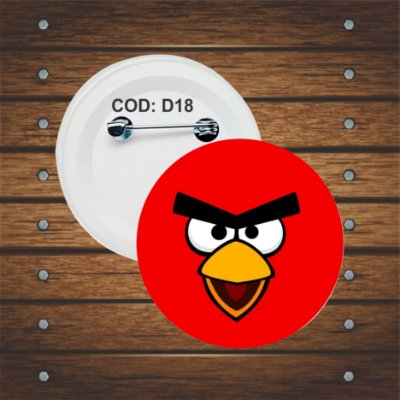 botton, chaveiro ou imã angry birds