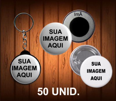50 bottons, chaveiro ou imã