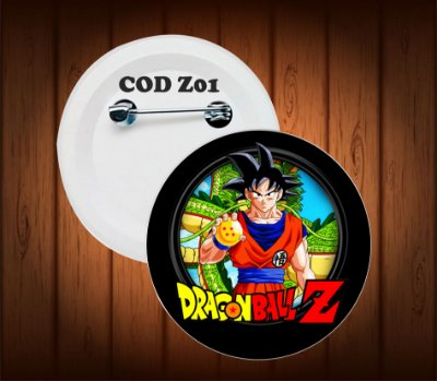 botton, chaveiro ou imã, dragon ball z