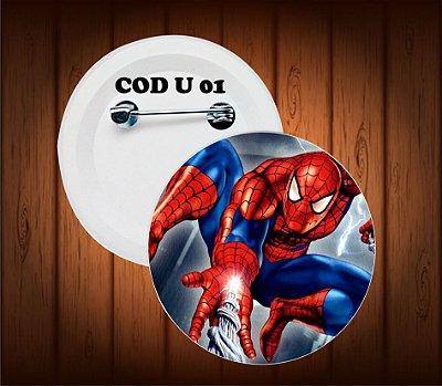 botton, chaveiro  ou imã, homen aranha