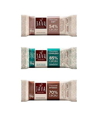 Chocolate zero lactose 15 gramas - CAIXA com 30 tabletes - Escolha o sabor