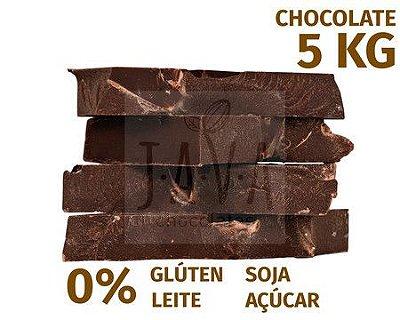 Barra de chocolate culinária 5kg - sem glúten, sem lactose e sem soja