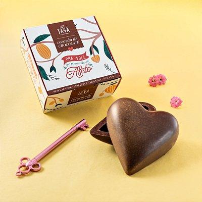 Coração de chocolate CREMINO 200g - Zero açucar com bombons de capuccino