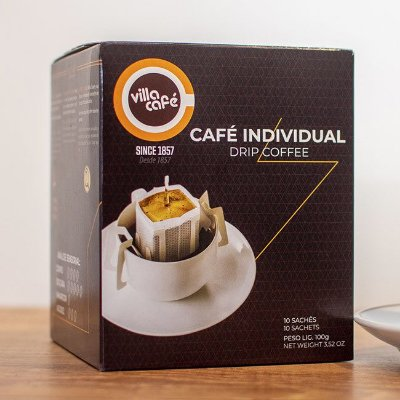 EMPORIO cafe individual  DRIP COFFEE Villa Café - Caixa com 10 sachês
