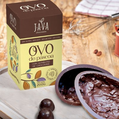 OVO DE PASCOA ZERO LACTOSE DUO CARAMELO - 200g - 70% cacau com caramelo crocante e cremoso