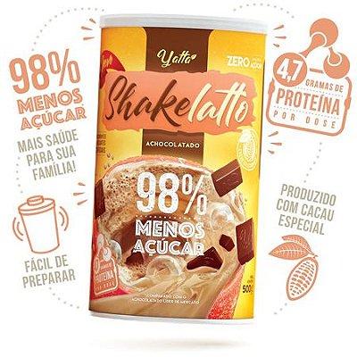 Achocolatado Shakelatto 98% menos açúcar* 500g