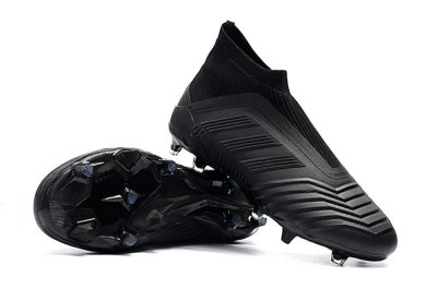 Chuteira Campo Adidas Predator 18 FG Black (Cano Alto)