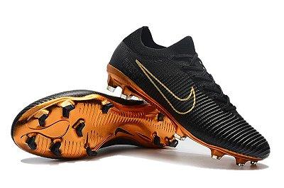 Chuteira Campo Nike Mercurial Vapor Flyknit Ultra Rooney Campo FG (Solado Dourado) FRETE GRÁTIS