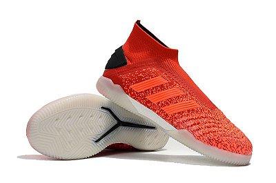Chuteira Adidas Predator 19 Futsal Vermelha/Branco (Cano alto)