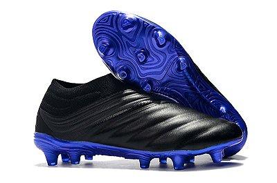 Chuteira Adidas Copa 19+ FG Preto e Azul