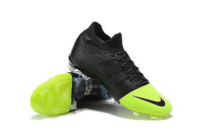 Chuteira Campo Nike Mercurial Greenspeed 360 FG Preto e Verde FRETE GRÁTIS