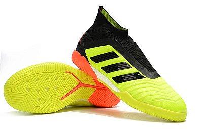 Chuteira Futsal Adidas Predator 18 Verde Flourescente (Cano alto)