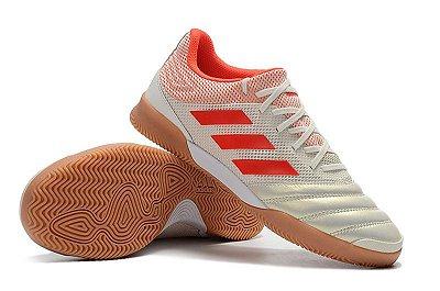 Chuteira Futsal Adidas Copa 19 3 IN - Branco e Vermelho