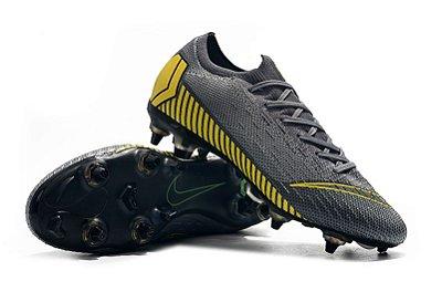 "Chuteira Nike Mercurial Superfly 360 Elite SG Cinza/Amarelo ""Game Over"" Trava Mista Alumínio"