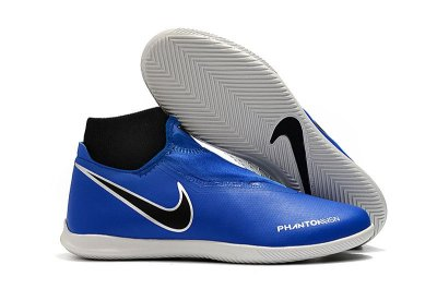 Chuteira Nike Phantom Vision Elite Society Cano Alto Azul FRETE GRÁTIS