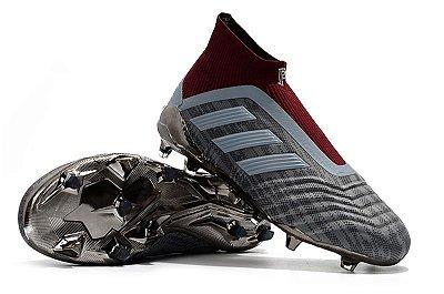Chuteira Campo Adidas Predator 18+ FG Sem Cadarço (Cano Alto)