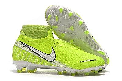 Chuteira Campo Nike Phantom VSN Elite Verde Limão (Cano Alto)