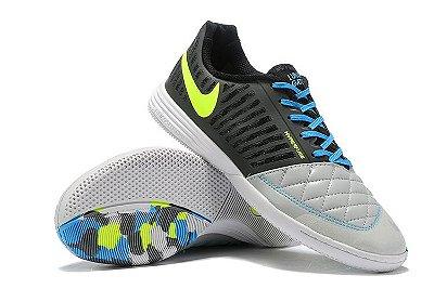 Chuteira Futsal Nike Lunar Gato II IC Preto/Cinza/Verde