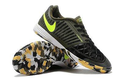 Chuteira Futsal Nike Lunar Gato II IC Preta/Logo Verde