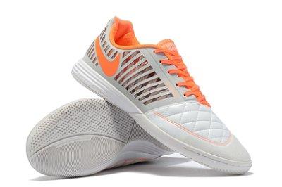 Chuteira Futsal Nike Lunar Gato II IC Branca/Laranja
