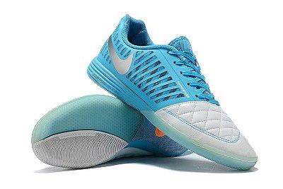 Chuteira Futsal Nike Lunar Gato II IC Azul/Branco