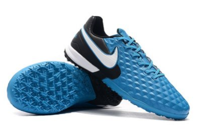 Chuteira Society Nike Tiempo Legend 8 Pro Azul/ Preto