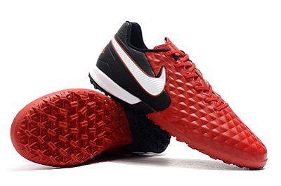 Chuteira Society Nike Tiempo Legend 8 Pro Preto/ Vermelho