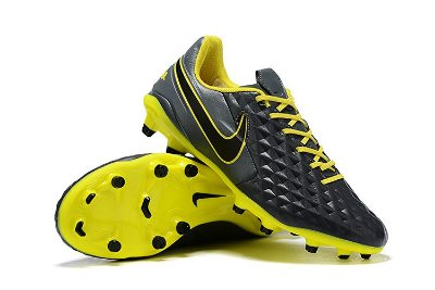 Chuteira Campo Nike Tiempo Legend 8 Elite FG Cinza/ Amarelo