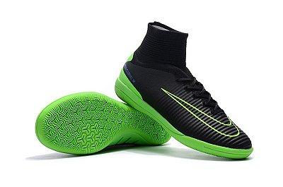 Chuteira Futsal Nike MercurialX Proximo II IC Preta/Verde