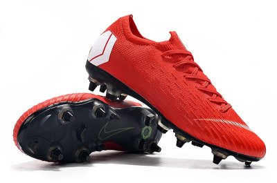 Chuteira Nike Mercurial Superfly VI Elite SG Vermelha Trava Mista Alumínio