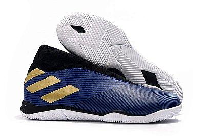 Chuteira Futsal Adidas Nemeziz 19.3 Laceless Azul FRETE GRÁTIS