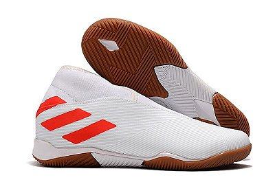 Chuteira Futsal Adidas Nemeziz 19.3 Laceless Branca
