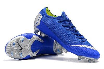 Chuteira Campo Nike Mercurial Vapor XII Elite FG Azul FRETE GRÁTIS