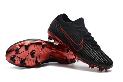 Chuteira Campo Nike Mercurial Vapor Flyknit Ultra Rooney Campo FG Preta e Vermelho FRETE GRÁTIS