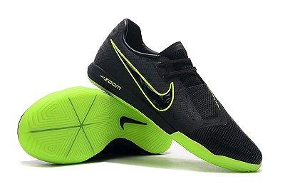 Chuteira Futsal Nike Zoom Phantom VNM Pro IC Preta e Verde Flourescente FRETE GRÁTIS